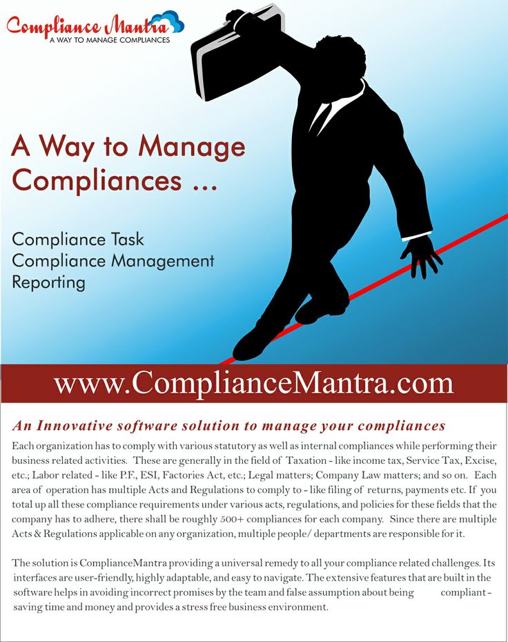 ComplianceMantra is a way manage your compliance related challange