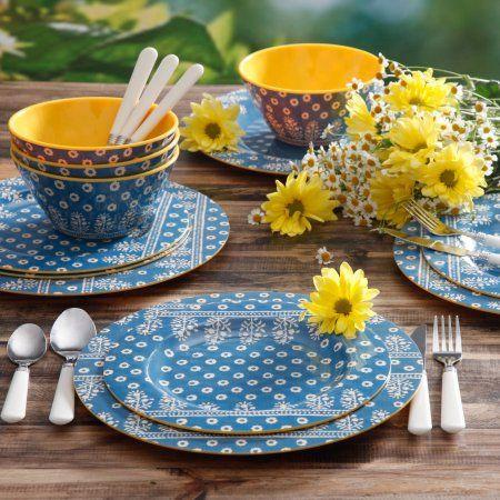 Laguna Gallery Odessa  12-Piece Melamine Dinnerware Set