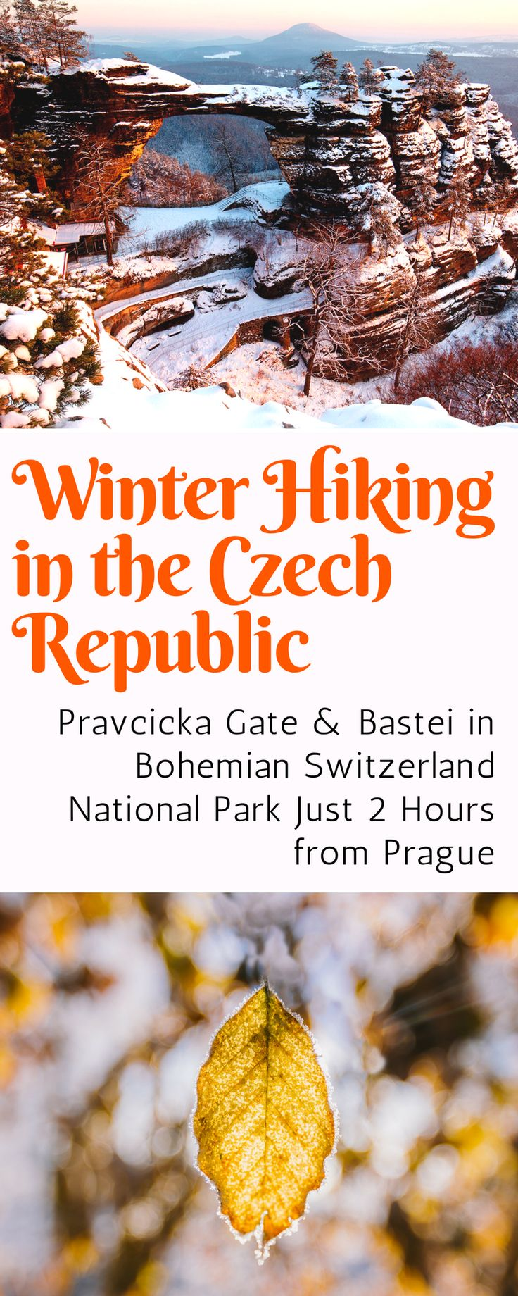 Day Trips from Prague: Join us for a winter hike to two incredible landmarks in Bohemia and Saxon Switzerland in the Czech Republic and Germany. Click here for tour information.