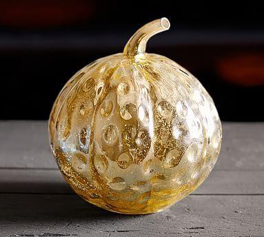 Gold Mercury Glass Pumpkins #potterybarn