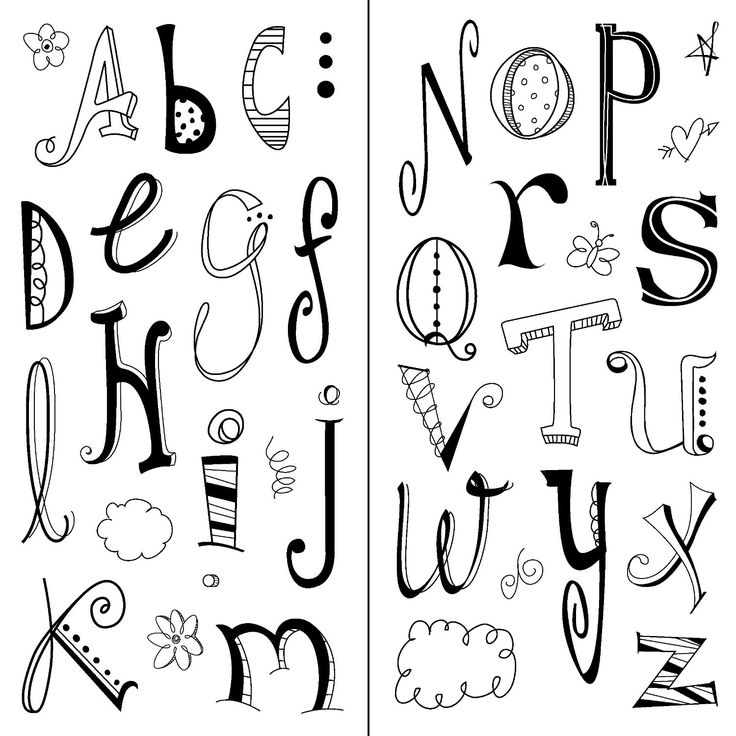 Amazon.com: Inkadinkado Doodle Alphabet Clear Stamps