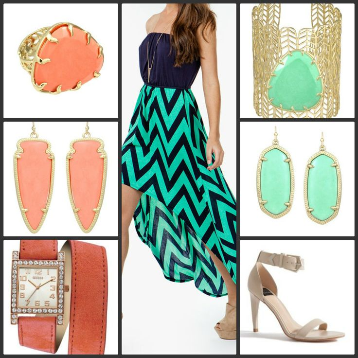 Steal The Look: Mint/Navy Chevron....To Coral or To Mint With IT