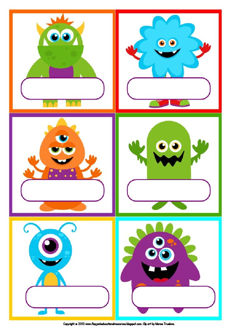 Freebie Labels - Little Monsters!