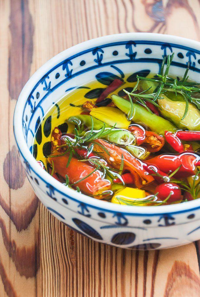 Receita de pimentas em conserva no azeite de oliva | Cozinha do João