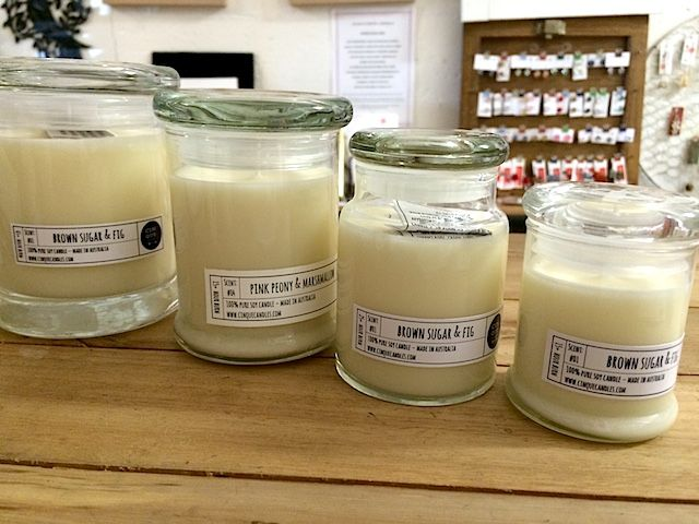 Cinque Candles - long burning Soy candles. From $9.95