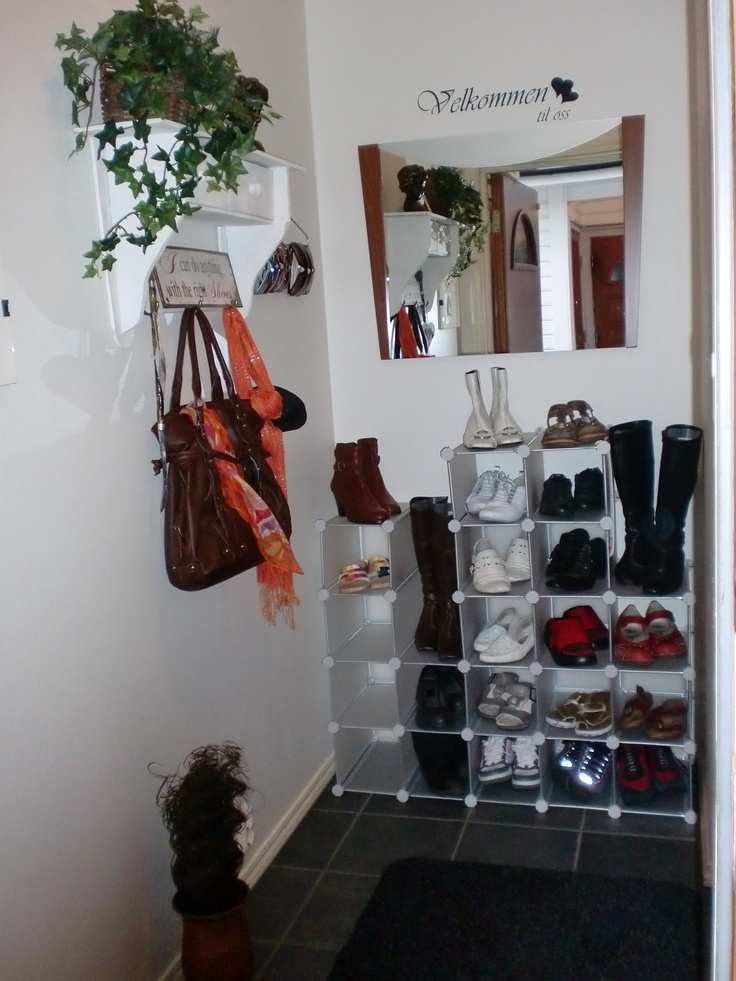 shoe storage in a small hall