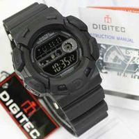 Jam tangan pria cowok Digitec sport DG 2087T hitam Original 100%