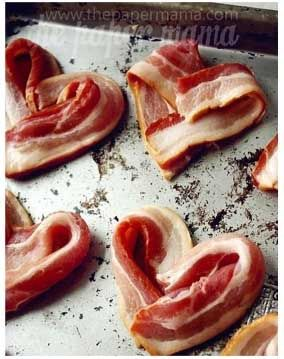 10 Valentine's Day Food and Treats - Heart Shaped Bacon #valentines