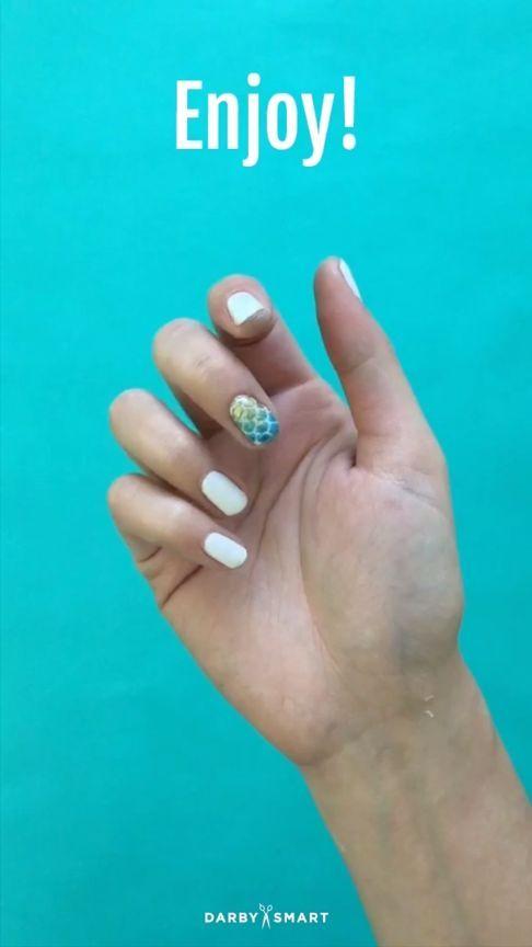 How To Do Mermaid Nail Decor