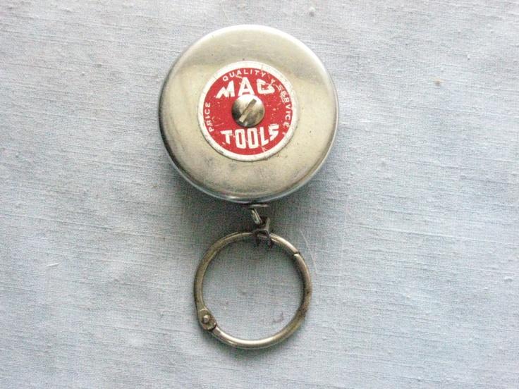 Mac Tools vintage Key Bak retractable key chain reel Wausau Wisc etsy.com