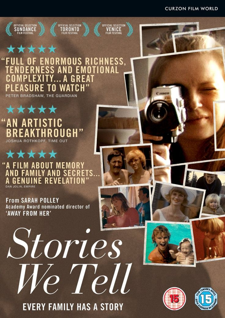 Stories We Tell (Sarah Polley's documentary. I've always been intrigued with her)