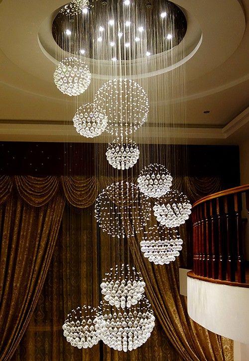 Luxury Solar System Spiral Raindrop Chandelier | Lighting in