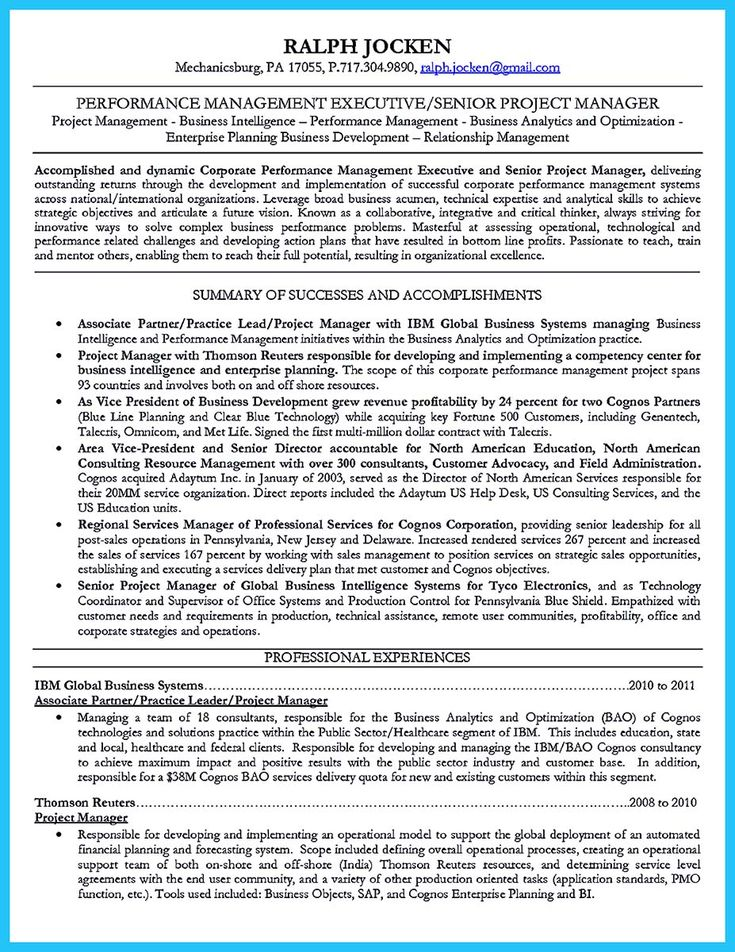 nice The Most Excellent Business Management Resume Ever, resume - business process management resume