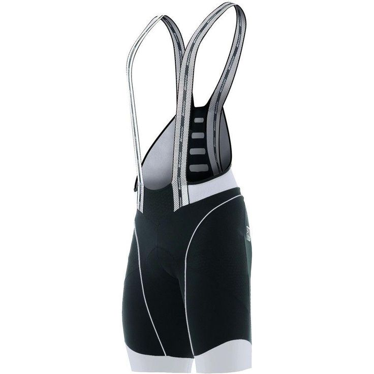 Men's BCOOL Aero Cycling Bib Shorts in Black / White: Made in Italy by Santini