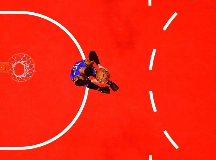The dynamic Russell Westbrook soars for a dunk, photographed by Harry How for Getty.