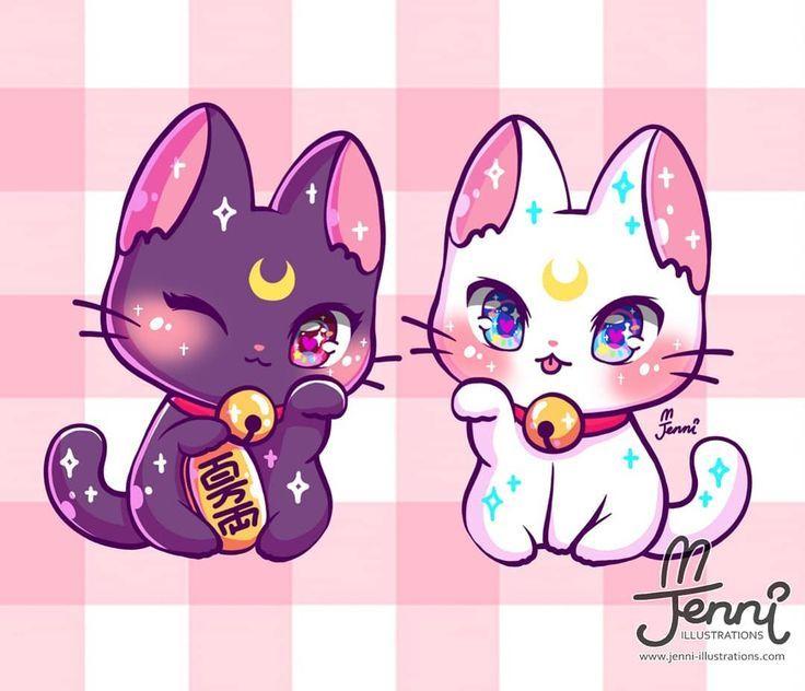 Lucky Cat Luna Artemis Luna Artemis Sailormoon