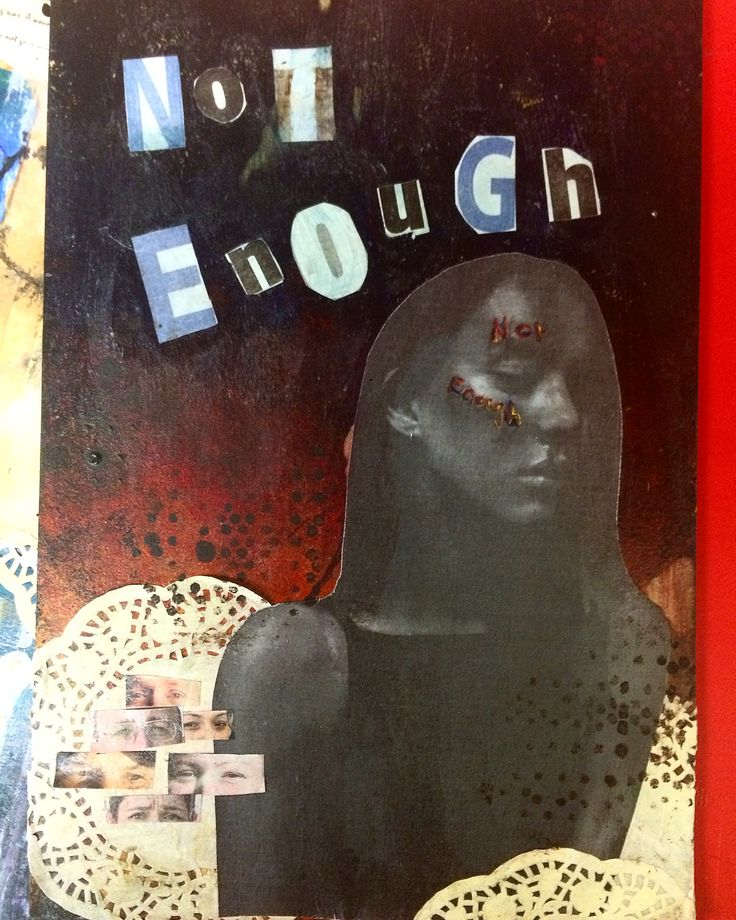 multi media collage on board || by Ashleigh Hunter