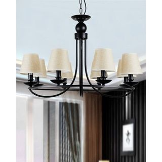 Shop for 8-light Industrial Bowl Chandelier with Fabric Shade. Get free shipping at Overstock.com - Your Online Home Decor Outlet Store! Get 5% in rewards with Club O!