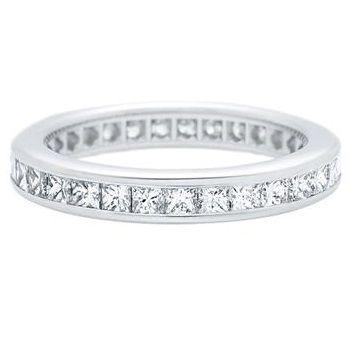 「プリンセスカット・チャネルセット・リング」 ハリーウィンストンの結婚指輪・マリッジリング一覧。