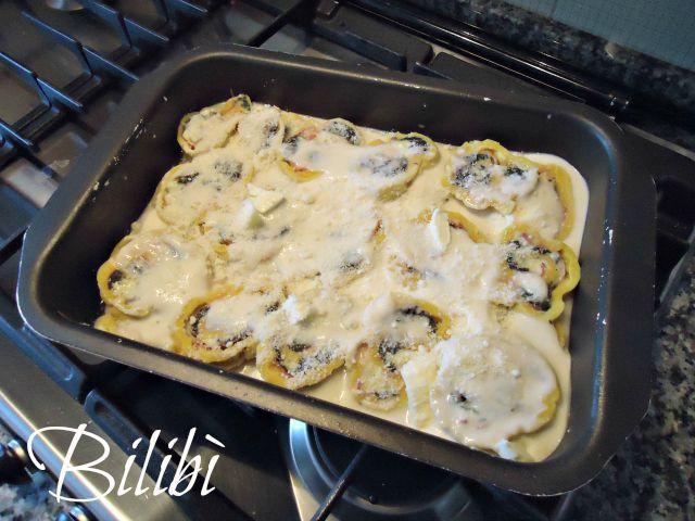 In cucina con Bilibì: Rotolo con bitto, speck e spinaci selvatici di montagna.