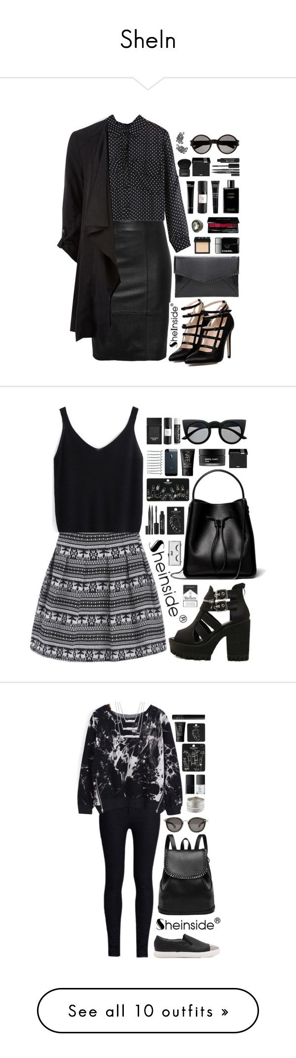 """""""SheIn"""" by scarlett-morwenna ❤ liked on Polyvore featuring NARS Cosmetics, Chanel, MAKE UP FOR EVER, Eight & Bob, Bobbi Brown Cosmetics, Givenchy, Stila, Yves Saint Laurent, vintage and 3.1 Phillip Lim"""