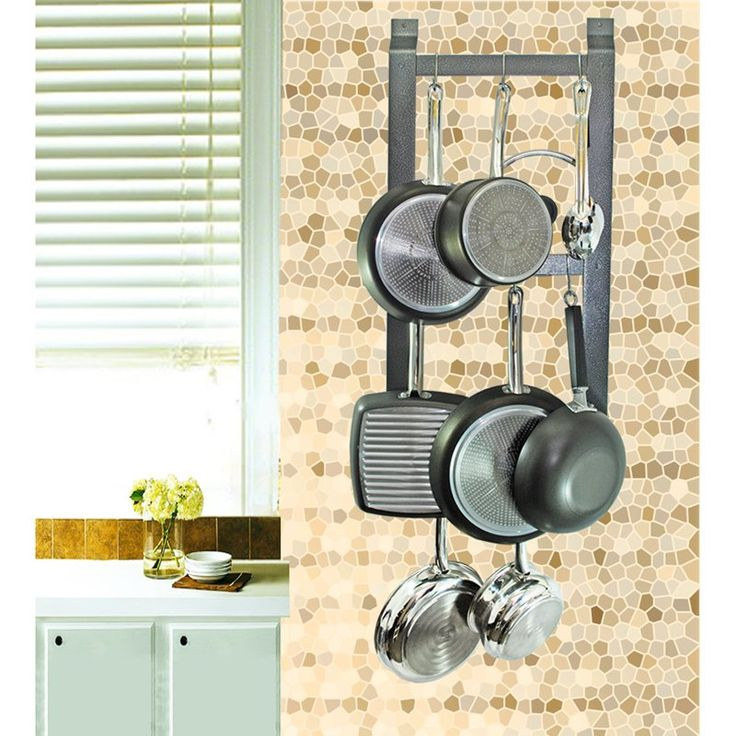 Just bought this. Love it!! Rogar Hammered Steel Ultimate Wall Mounted Pot Rack - $55.95 @hayneedle