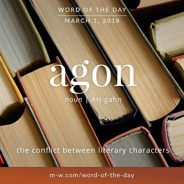 Today's #wordoftheday is 'agon'  .  #language #merriamwebster #dictionary