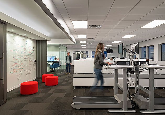Outsell Office Design by Gensler +not the treadmill part - just project/planning wall