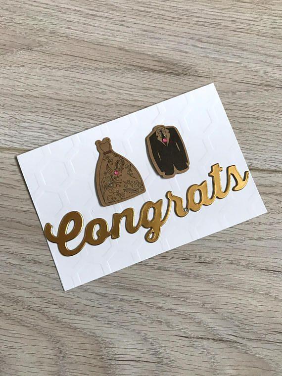 Wedding Card // Handmade Card // Congrats