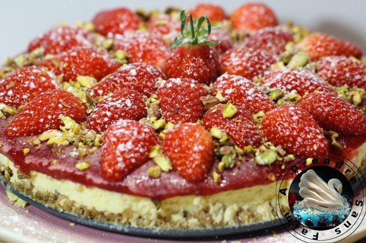 Cheesecake fraises pistaches