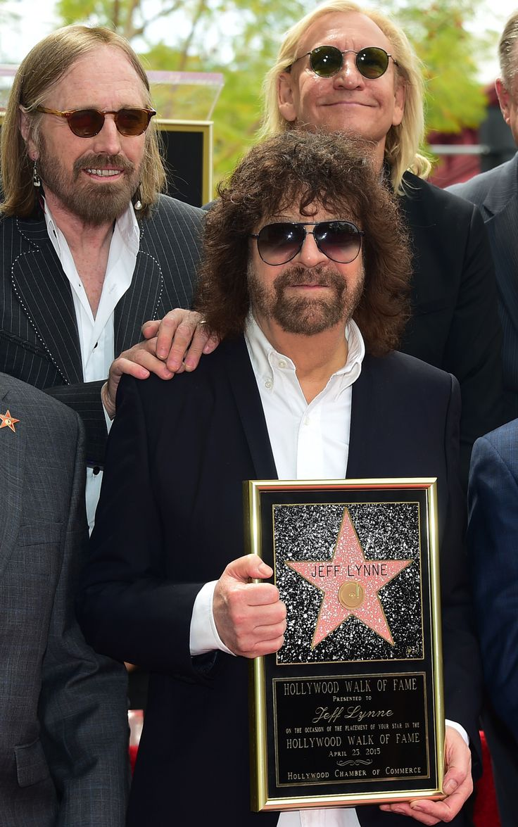 Jeff Lynne getting his star on the Hollywood Walk Of Fame 2015