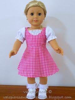Val Spiers Sews Doll Designs: New Pattern 1810 Snugfit Irene Low Neck Dress