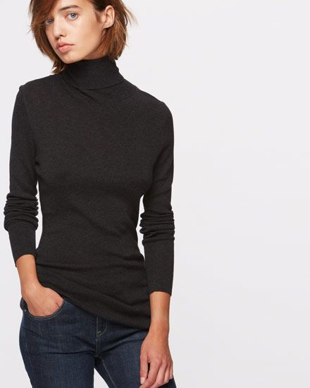 Timeless polo neck jumper carefully crafted in lightweight cotton and silk for a truly luxe feel. Flattering fit through the body and classic long sleeves. The perfect piece to layer under dresses, shirts or chunky knitwear for a wearable seasonal look.