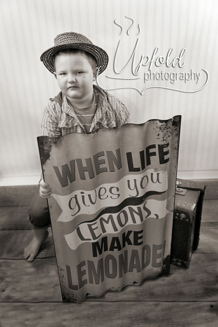 When Life gives you Lemons, Make Lemonade. This vintage scene is perfect for a little boy. Image by Upfold Photography, Auckland.