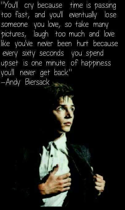 My blog post about my favorite quotes. Including Andy Biersack, Austin Carlile, Alex Gaskarth, Genard Way, Brent Smith and more.