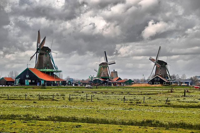 Zaanse Schans village, north Holland.