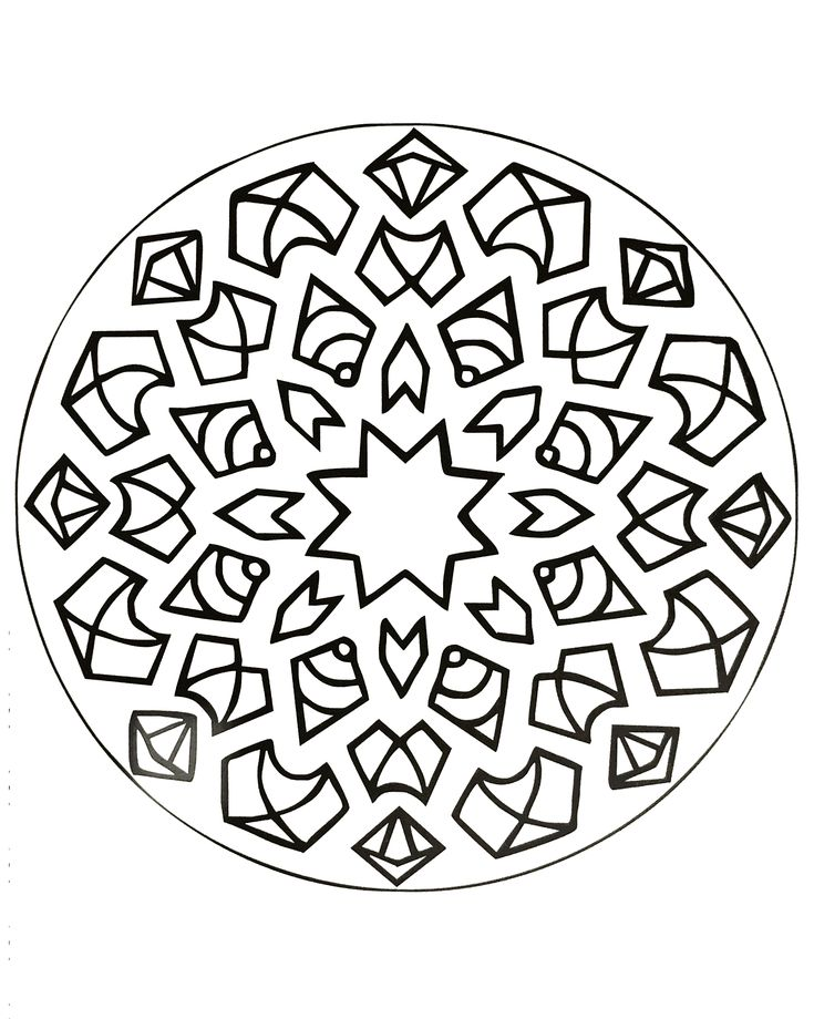 Free Coloring Page Mandalas To Download For 17