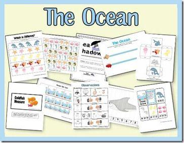 Ocean Pre-k Pack | www.2teachingmommies.com
