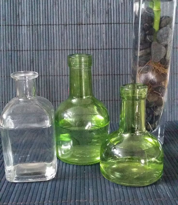 Scenting your home can also include reed diffusers. Found these great bottles, just to be a bit different.