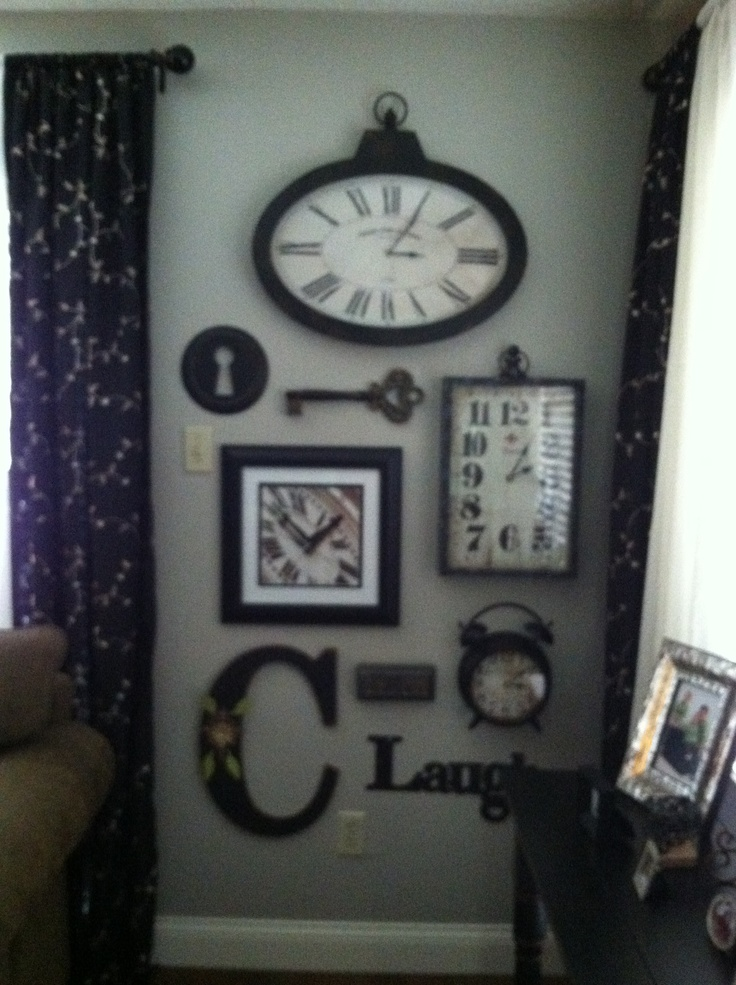 "To steal a quote from LeighAnn... I am ""refreshing my nest"" this weekend.  Loving my clock wall."