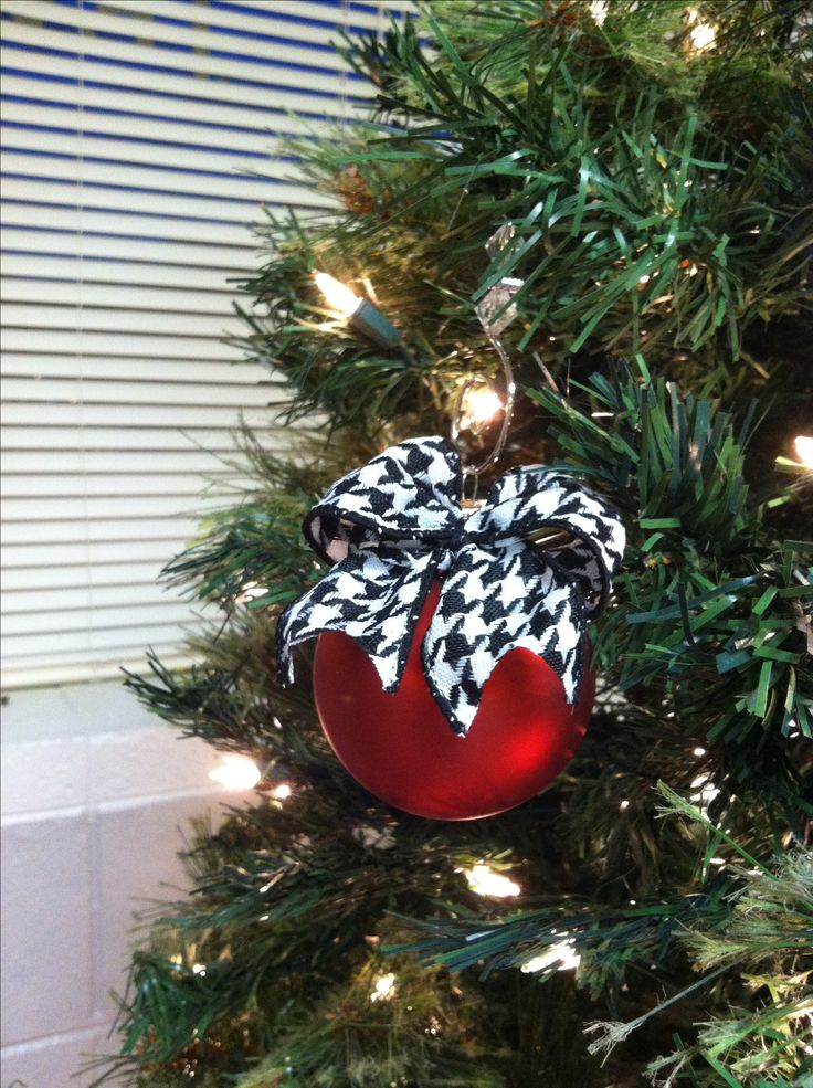 christmas trees decorated with metallic ornaments | Alabama inspired tree ornaments @ ... | CHRISTMAS DECORATING