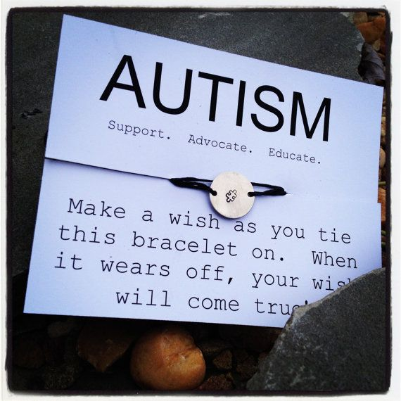 Custom WISH Bracelet -- AUTISM SPEAKS, Autism Awareness Wish Bracelet on Etsy, $5.00