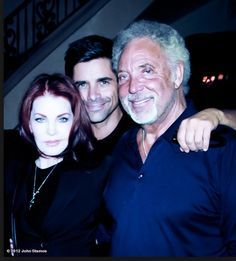 (Then and now) First picture: Priscilla Presley and Tom Jones in 1967 with…