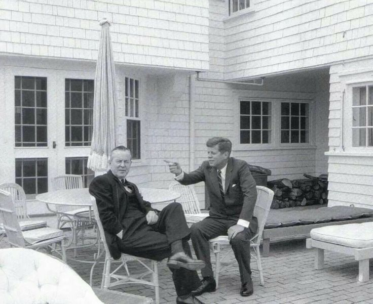 President Kennedy and Lester Pearson, Prime Minister of Canada at Hyannis Port, May 10, 1963