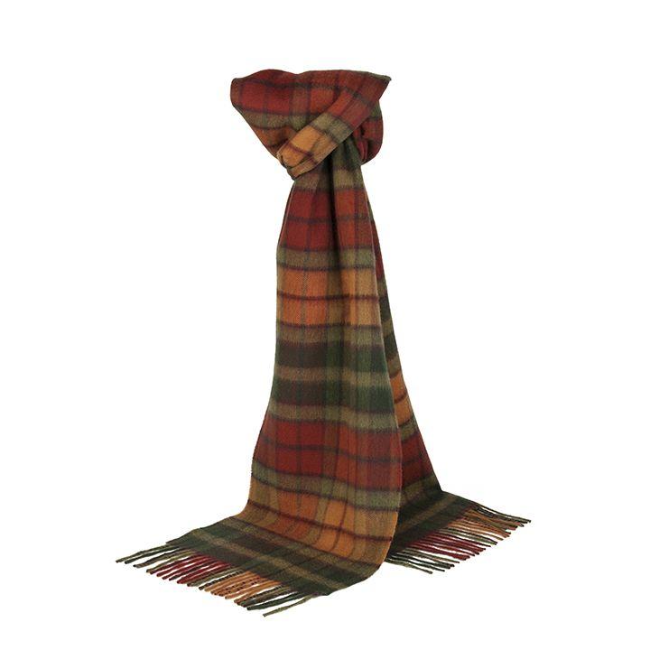 Autumn Buchanan Scarf | 100% Lambswool | Patrick King Edinburgh  #style #fashion #scarf #scarves #tartan #autumn #lambswool