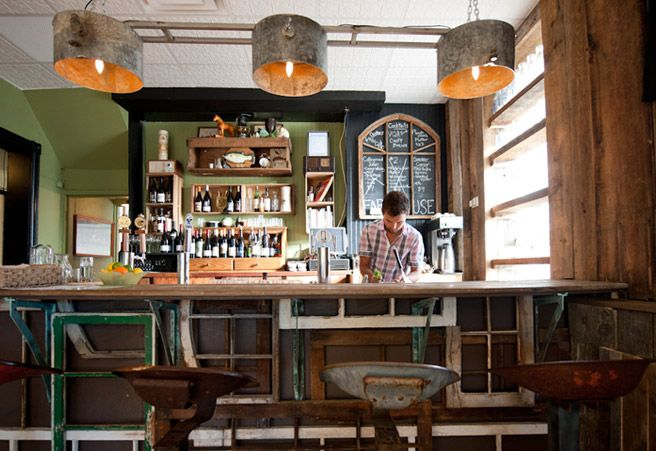"""University of Guelph grad Darcy MacDonnel recently opened the Farmhouse Tavern, a local food restaurant in Toronto's Junction neighbourhood.     """"Given the restaurant's concept, and MacDonell's relationships with food producers, it's not surprising that the Farmhouse Tavern has become a place to showcase Ontario products in the kitchen and at the bar."""" - Toronto Life"""