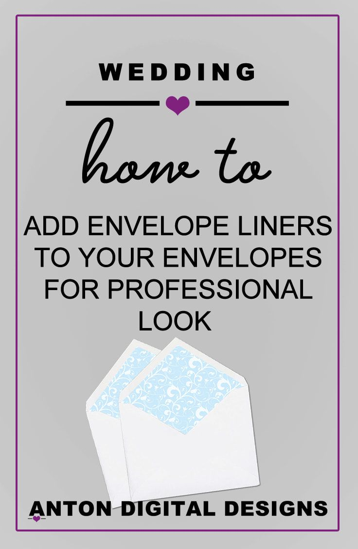 how to add envelope liners to your envelopes for a professional