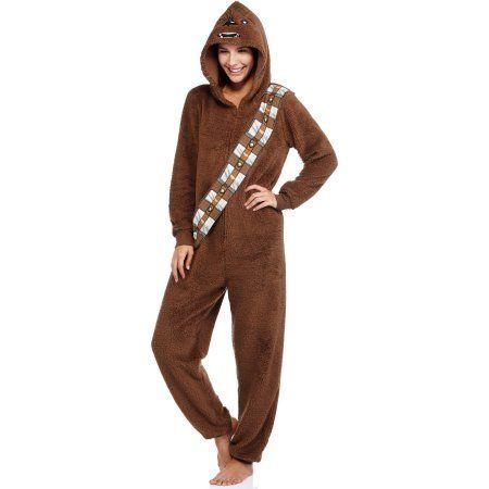 Star Wars Chewbacca Women's and Women's Plus License Sleepwear Adult Onesie Union Suit Pajama (Sizes XS-3XL)