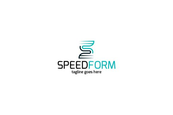 Speed Form Logo Template by Shaoleen on @creativemarket