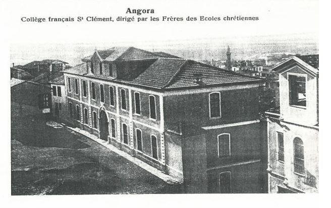 1916 Büyük Ankara Yangınına kadar Ulus Kardeşler Sokakta bulunan St. Clement Koleji.